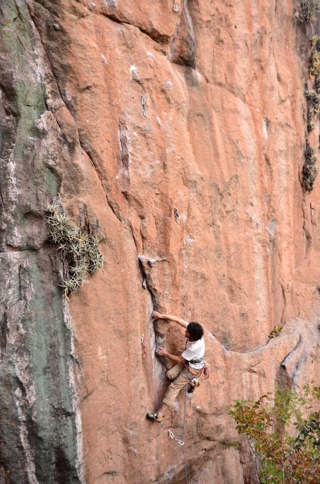 """Increíble ruta en el sector """"La Cañada"""" - Foto: Carlos Herrador."""