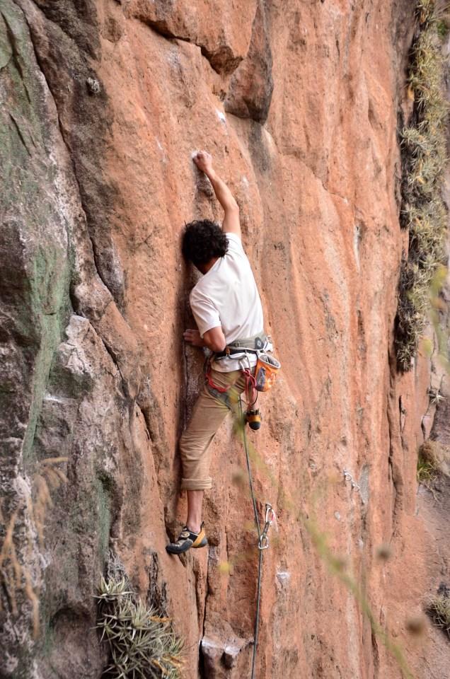 """Nan escalando """"Only Clusiv"""" - Foto: Carlos Herrador."""