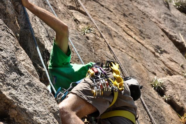La deliciosa escalada con móviles - Foto: Carlos Herrador.